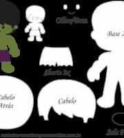 Molde Personagens Hulk - Molde para EVA - Feltro e Artesanato