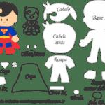 Molde Personagens Super Homem – Molde para Feltro – EVA e Artesanato