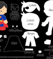 Molde Personagens Super Homem - Molde para EVA - Feltro e Artesanato