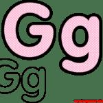 Molde da Letra G