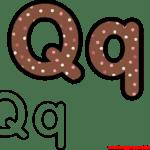 Molde da Letra Q