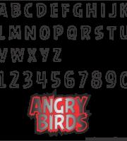 Molde da Letra do Angry Birds 3