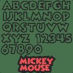 Moldes da Letra do Mickey Mouse