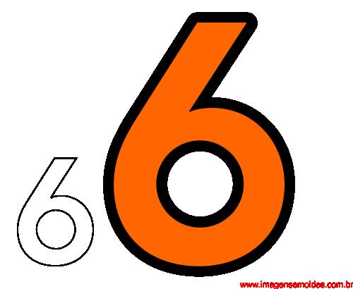 Molde Da Número 6