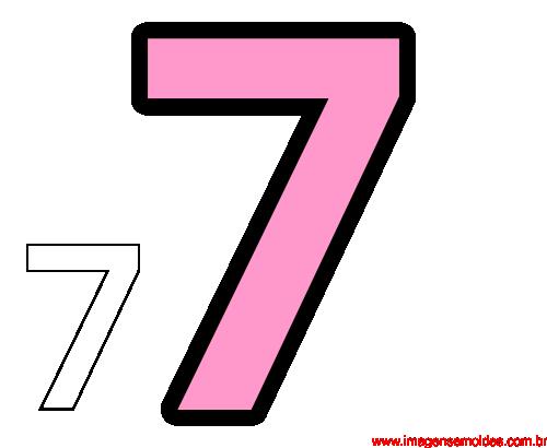 Molde Da Número 7