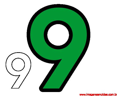 Molde Da Número 9