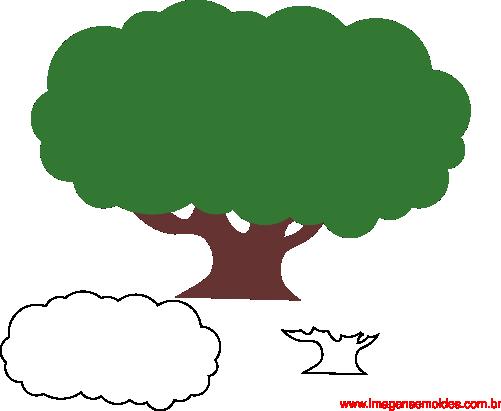 Molde De Árvore Para E.V.A. Feltro E Artesanato