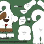 Molde de Cachorro Porta Maçaneta para Feltro – EVA e Artesanato 2