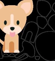 Molde de Cachorro para EVA, Feltro e Artesanatos