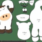 Molde de Cavalo Branco Porta Maçaneta para Feltro – EVA e Artesanato