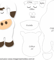 Molde de Cavalo Branco Porta Maçaneta para EVA - Feltro e Artesanato