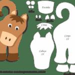 Molde de Cavalo Porta Maçaneta para Feltro – EVA e Artesanato