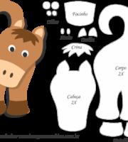 Molde de Cavalo Marrom Porta Maçaneta para EVA - Feltro e Artesanato