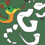 Molde de Cobra para Feltro – EVA e Artesanatos 4