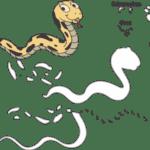 Molde de Cobra para Feltro – EVA e Artesanatos 5