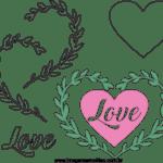 Molde de Coração Feltro – EVA e Artesanato 5