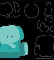 Molde de Elefante para EVA - Feltro e Artesanato 1