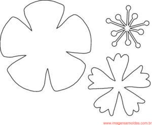 Molde De Flor Para E V A Feltro E Artesanato 14