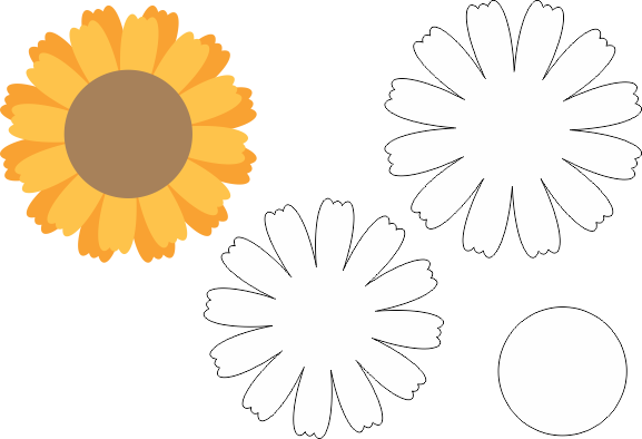 Molde de Flor EVA - Feltro - Artesanato, EVA Flower Mold - Felt - Crafts, Molde de flores de EVA - Fieltro - Manualidades, EVA Flower Mold - Filz - Kunsthandwerk