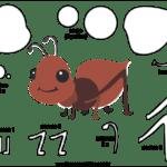 Molde de Formiga para Feltro – EVA e Artesanato 1
