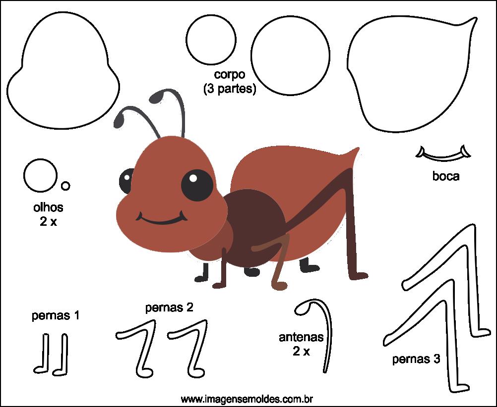 Adesivo Para Envelopamento De Geladeira Rj ~ Molde de Formiga para Feltro EVA e Artesanato 1