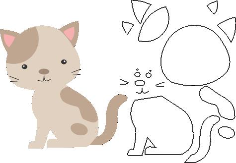 Molde De Gato Para Eva Feltro E Artesanatos