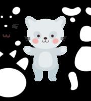 Molde de Gato Para EVA - Feltro e Artesanatos 6