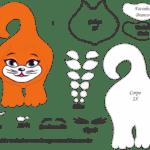 Molde de Gato Porta Maçaneta para Feltro – EVA e Artesanato