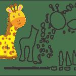 Molde de Girafa Para Eva – Feltro e Artesanatos