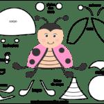 Molde de Joaninha para Feltro – EVA e Artesanato 1
