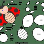 Molde de Joaninha para Feltro – EVA e Artesanato 2