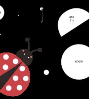 Molde de Joaninha para EVA Feltro e Artesanato 5