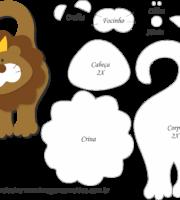 Molde de Leão Porta Maçaneta para EVA - Feltro e Artesanato