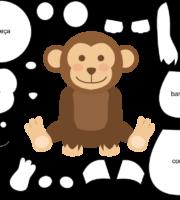 Molde de Macaco para EVA Feltro e Artesanato 3