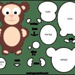 Molde de Macaco para Feltro – EVA e Artesanato 6
