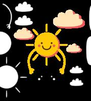 Molde de Nuvem e Sol para EVA Feltro e Artesanato 1