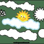 Molde de Nuvem e Sol para Feltro – EVA e Artesanato 2