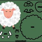 Molde de Ovelha para Feltro – EVA e Artesanato 3