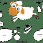 Molde de Ovelha para Feltro – EVA e Artesanato 4