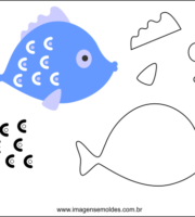 Arquivos Molde De Peixe Para Imprimir