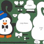 Molde de Pinguim Gravata Porta Maçaneta para Feltro – EVA e Artesanato
