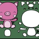 Molde de Porco para Feltro – EVA e Artesanato 2