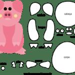 Molde de Porco para Feltro – EVA e Artesanato 6
