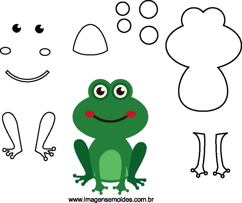 Molde de Sapo para Feltro - EVA e Artesanatos, Felt Frog Mold - EVA and Crafts, Filz Froschform - EVA und Kunsthandwerk, Molde de rana de fieltro - EVA y manualidades
