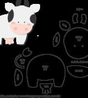 Molde de Vaca para Feltro - Artesanato e EVA