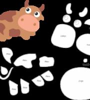 Molde de Vaca para Feltro – EVA e Artesanato