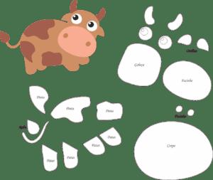 Molde De Vaca Para Feltro Eva E Artesanato Molde De Vaca Com Pdf