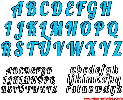 Moldes De Letras Cursivas Para Feltro E V A E Artesanatos 3