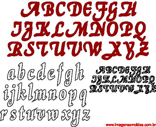 Moldes De Letras Cursivas Para Feltro E V A E Artesanatos 4