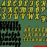Moldes de Letras Cursivas para Feltro, E.V.A e Artesanatos – 5